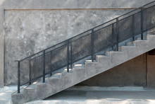 Staircase Made Of Cement Outsi...