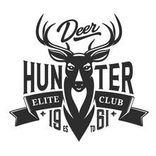 Deer Hunt Elite Club Badge, Hu...