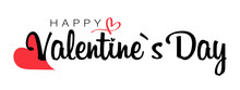 Valentine Day Lettering. Heart...