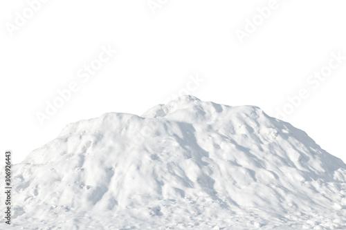 Obraz Pile of white snow on a white background - fototapety do salonu