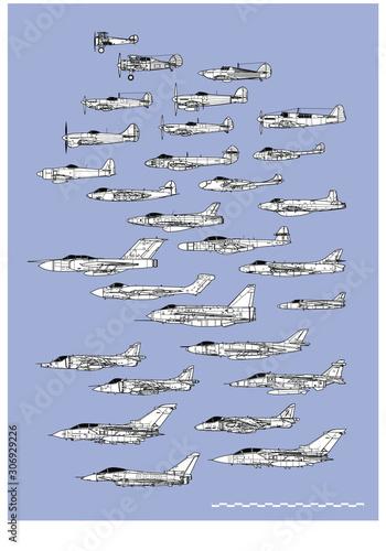 Cuadros en Lienzo History of british fighters