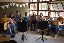 Teenage Musicians Rehearsing