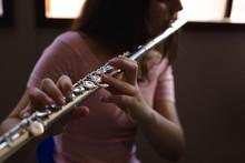 Teenage Musician Rehearsing