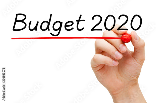 Budget Year 2020 Finance Concept Canvas Print