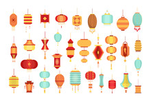 Set Of Various Chinese Lantern...