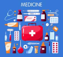 Medical Tools Set With Syringe...