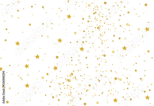 Vector illustration gold glitter and stars light texture abstract background, ho Poster Mural XXL