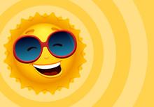 Vector Cartoon Happy Sun Chara...