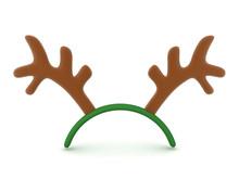 3D Rendering Of Cute Reindeer Antlers