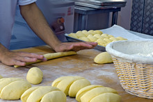Baker Shaping Sweet Braided Bread