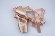 The Pink Satin Ballet Shoes Pu...