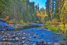 Merced River Flowing Through Yosemite Valley,