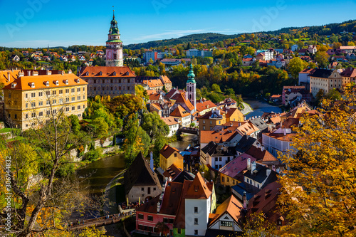 Obraz na płótnie Cesky Krumlov overlooking Castle, Czech Republic