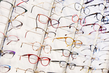 Glasses Showcase In Modern Opt...