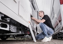 Preparing RV Travel Trailer