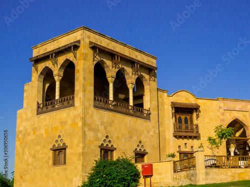 Cairo, Egypt - November 2, 2019: View of the Alain Le Notre restaurant in Al Azhar Park Wallpaper Mural