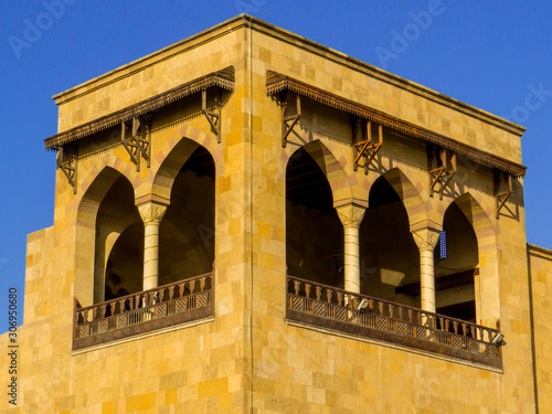 Cairo, Egypt - November 2, 2019: View of the terrace of Alain Le Notre restaurant in Al Azhar Park Canvas Print