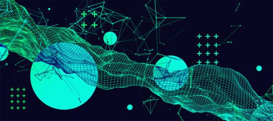 Abstract dark geometric background. Vector illustration