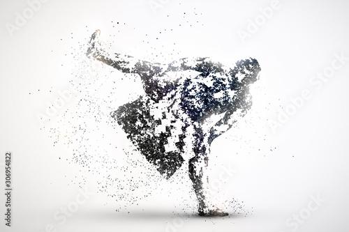 Fotografía  sumo wrestler abstract silhouette 1
