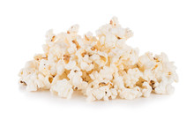 Group Of Popcorn Isolated On W...