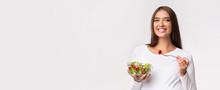 Expectant Lady Eating Veggie S...
