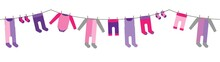 Colorful Hanging Laundry For B...