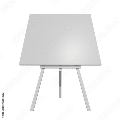 Blank white easel with canvas Canvas Print