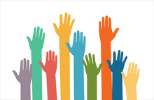 Raised Hands Volunteering Vect...