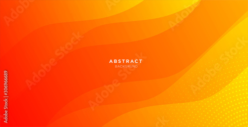 Stampa su Tela abstract minimal background with orange color