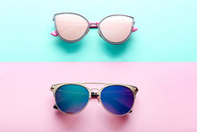 Modern Sunglasses On Colorful ...