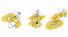 Jazz Hand-drawn Illustrations....