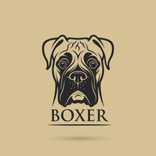 Boxer Dog - Isolated Outlined ...