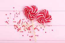 Heart Shaped Lollipops With Sp...