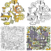 Set Of Colourings. Creative Pa...