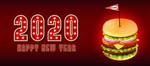 Deluxe King Burger. 3d Illustr...