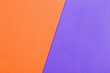 Leinwanddruck Bild - orange and violet paper background