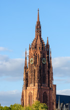 Tower Of The Kaiserdom Cathedral In Frankfurt