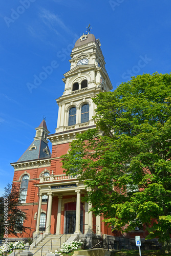 Gloucester City Hall was built in 1870 with Victorian and Second Empire style Fototapeta