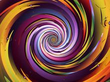Multicolored Vortex Spiral. Sp...