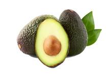 Brown Avocado With Avocado Lea...