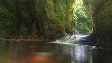 Hidden Waterfall In Scotland
