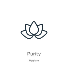 Purity Icon. Thin Linear Purit...