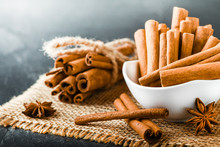 Fresh Cinnamon Sticks With Ani...