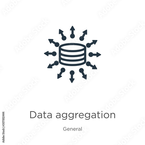 Data aggregation icon Wallpaper Mural