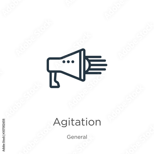 Agitation icon Wallpaper Mural