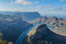 Blyde River Canyon And Three Rondawel In The Panorama Route In Mpumalanga