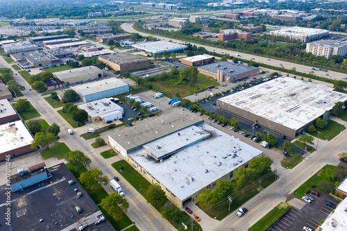 Obraz Office Park Expressway Aerial - fototapety do salonu