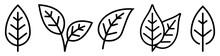 Leaf Simple Icon Set. Vector