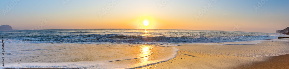 Fototapeta Dawn by the sea