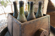 Box With Old Wine Bottles